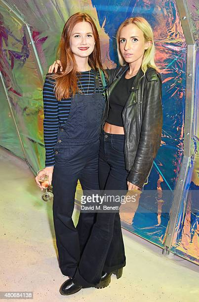 Bonnie Wright and Angelica Mandy attend the COS x The Serpentine party at The Serpentine Gallery on July 14 2015 in London England