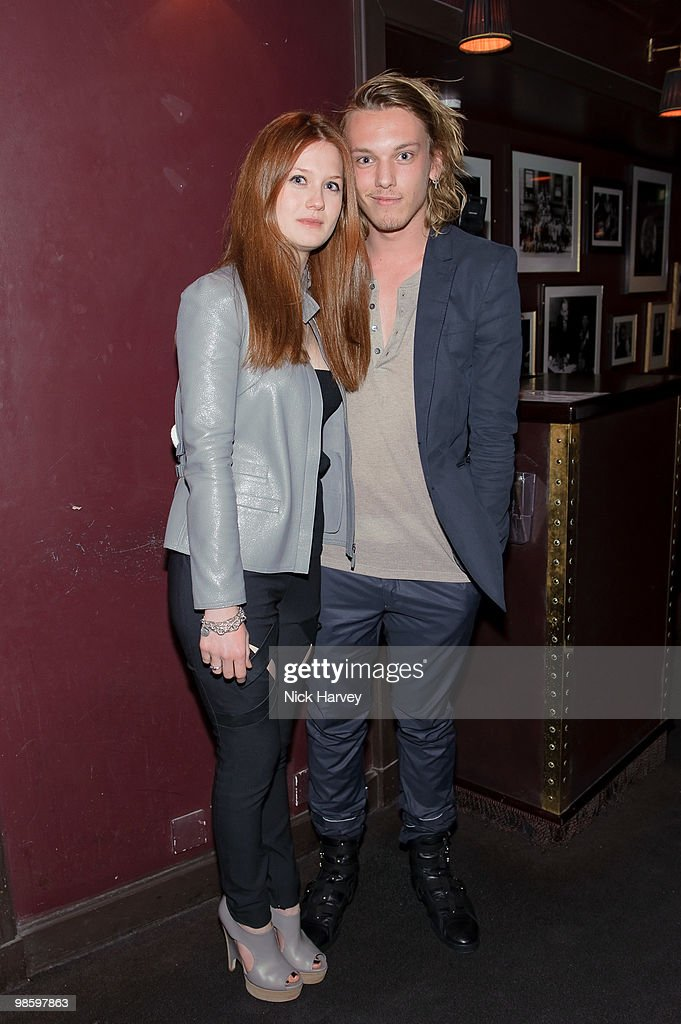 Bonnie Wright and Jamie Bower attend the afterparty following the opening of Gucci's pop-up sneaker store, at Ronnie Scott's on April 21, 2010 in London, England.