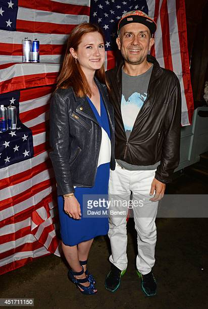Bonnie Wright and Marc Quinn attend The Box's annual 4th of July party with Red Bull Studios on July 4 2014 in London England