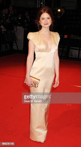 Bonnie Wright arrives at the Orange British Academy Film Awards 2010 at The Royal Opera House on February 21 2010 in London England