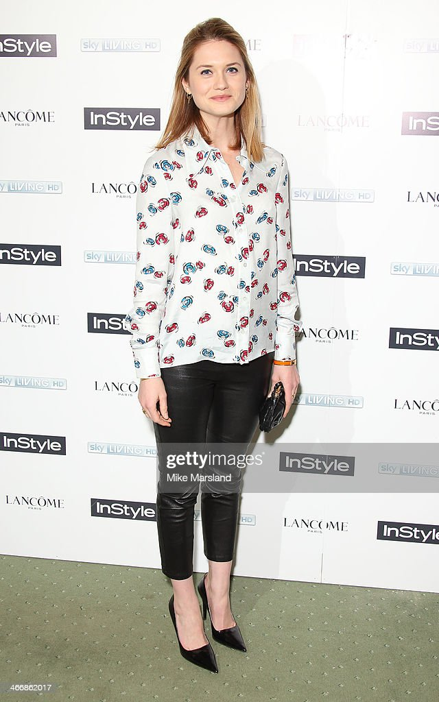 Bonnie Wright attends InStyle magazine's The Best of British Talent pre-BAFTA party at Dartmouth House on February 4, 2014 in London, England.