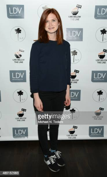 Bonnie Wright attends Live Below The Line 2014 at No 8 on April 16 2014 in New York City