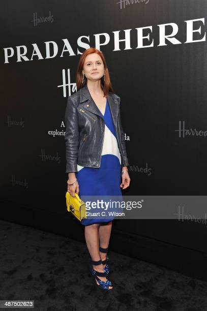 Bonnie Wright attends PRADASPHERE at Harrods on April 30 2014 in London England