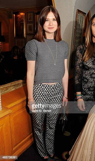 Bonnie Wright attends the Charles Finch and Chanel PreBAFTA cocktail party and dinner at Annabel's on February 8 2013 in London England