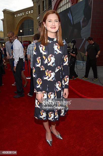 Bonnie Wright attends The Wizarding World of Harry Potter Diagon Alley Grand Opening at Universal Orlando on June 18 2014 in Orlando Florida