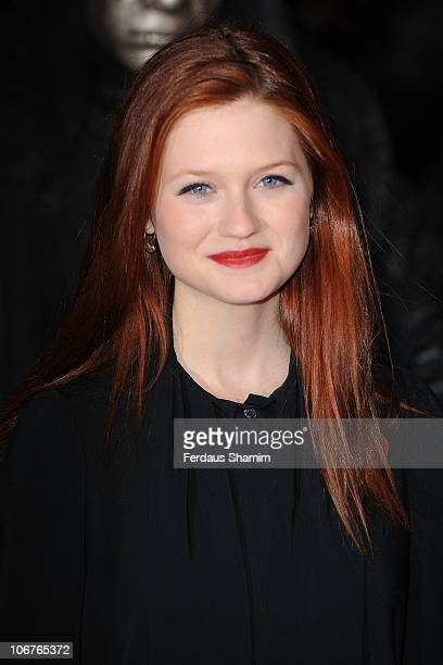 Bonnie Wright attends the world premiere of Harry Potter and The Deathly Hallows Part 1 at Odeon Leicester Square on November 11 2010 in London...