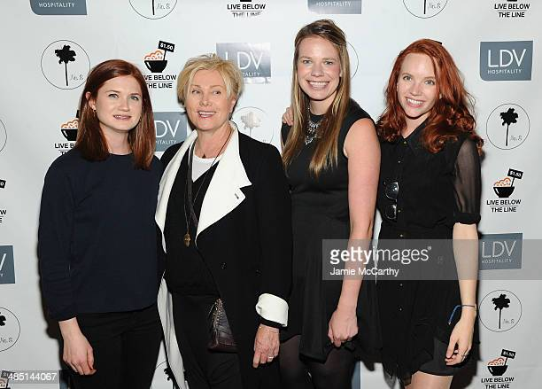 Bonnie Wright DeborraLee Furness Global Poverty Project US Country Director Justine Lucas and Tamzin Merchant attend the Global Poverty Project and...
