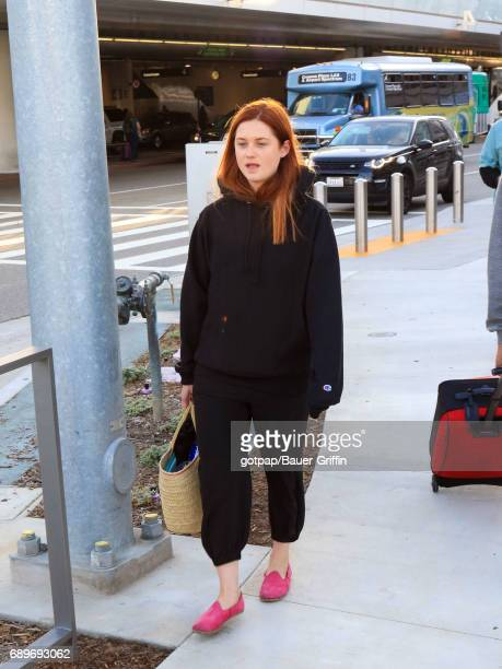 Bonnie Wright is seen at Los Angeles International Airport on May 28 2017 in Los Angeles California