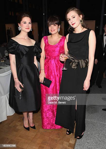 Bonnie Wright Lily Allen and Laura Carmichael attend the WilliamVintage Dinner hosted by Gillian Anderson and William BanksBlaney in association with...