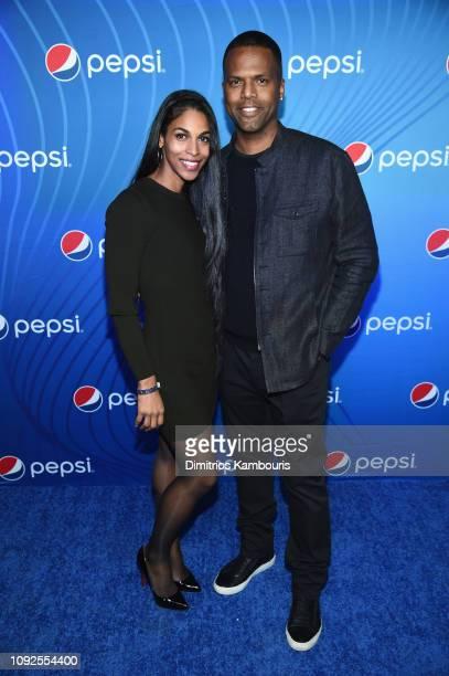 BonnieJill Laflin and AJ Calloway attend 'Planet Pepsi' PreSuper Bowl LIII party featuring Travis Scott on February 1 2019 in Atlanta Georgia