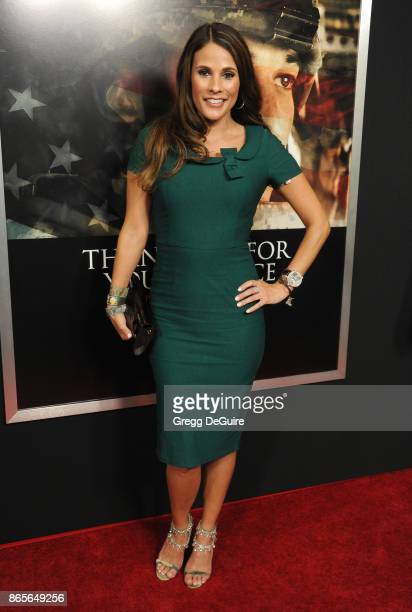 BonnieJill Laflin arrives at the premiere of DreamWorks Pictures and Universal Pictures' 'Thank You For Your Service' at Regal LA Live Stadium 14 on...
