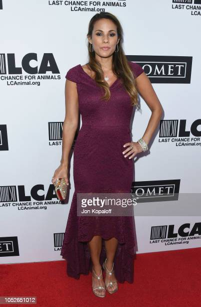BonnieJill Laflin attends Last Chance For Animals' Hosts Annual Celebrity Benefit at The Beverly Hilton Hotel on October 20 2018 in Beverly Hills...