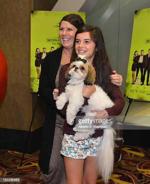 Bonny the ShihTzu and fans attend a screening of CBS Films' Seven Psychopaths celebrating the Certified Fresh Rating from RottenTomatoescom at AMC...