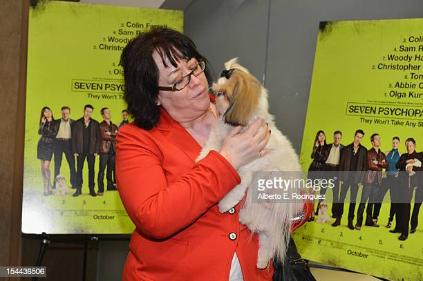 "Bonny the ShihTzu and fans attend a screening of CBS Films' ""Seven Psychopaths"" celebrating the Certified Fresh Rating from RottenTomatoes.com at AMC..."