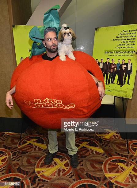 Bonny the ShihTzu with Kerr Lordygan attends a screening of CBS Films' Seven Psychopaths celebrating the Certified Fresh Rating from...