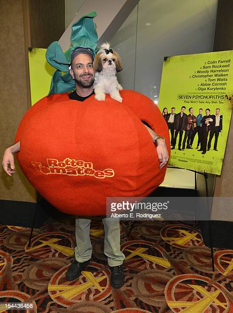 "Bonny the ShihTzu with Kerr Lordygan attends a screening of CBS Films' ""Seven Psychopaths"" celebrating the Certified Fresh Rating from..."
