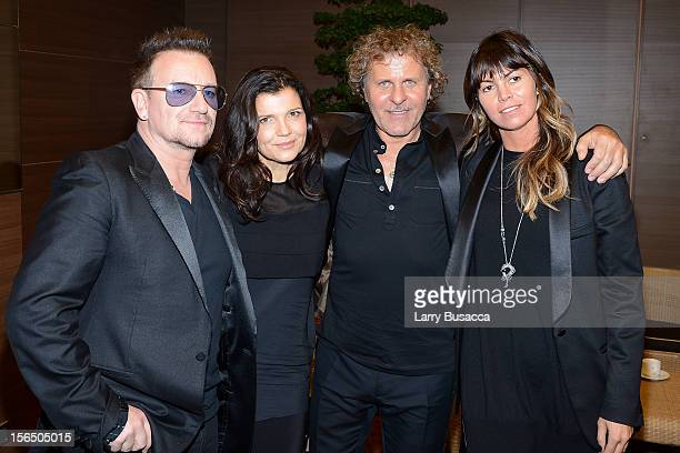 Bono Alison Hewson Renzo Rosso Diesel Founder and Arianna Alessi attend the third day of the 2012 International Herald Tribune's Luxury Business...