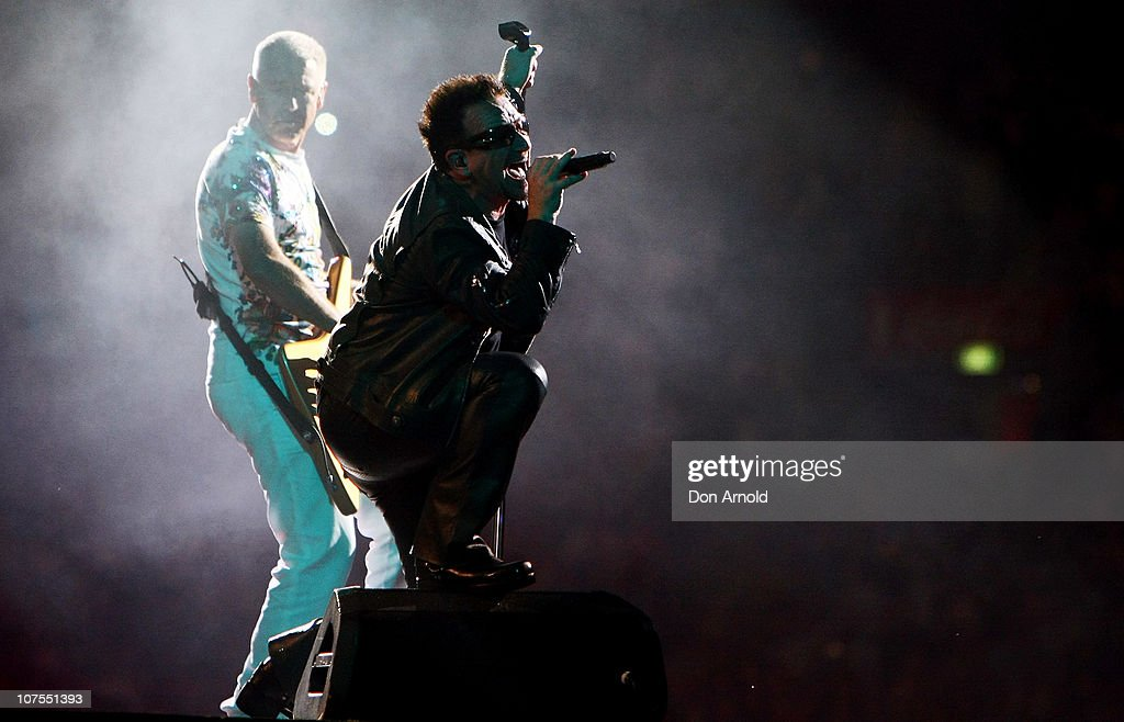 U2 Performs In Sydney : News Photo
