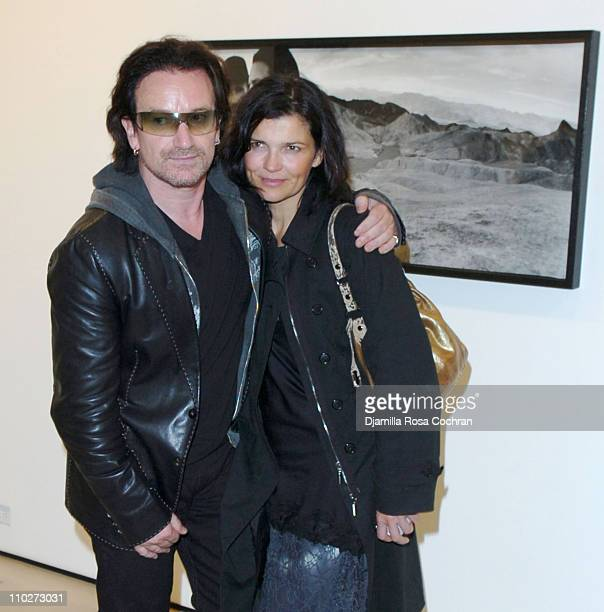 Bono and Ali Hewson during Anton Corbijn's 'U2 I' Opening at the Stellan Holm Gallery at Stellan Hom Gallery in New York City New York United States
