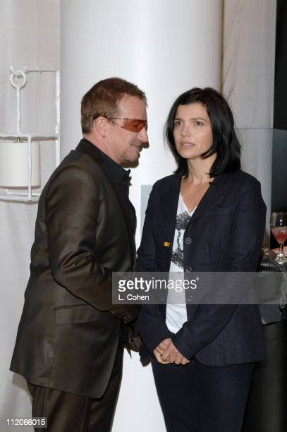 Bono and Ali Hewson during Bono Ali Hewson and Rogan Gregory Come Together at Nordstrom to Launch New One Tshirt by Edun September 17 2006 at...