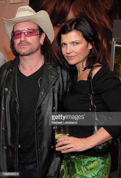 Bono and Bono's Wife Ali Hewson during Jacob Co and Helena Christensen Celebrate the New Ad Campaign and Ladies Fine Jewelry Collection at The SoHo...