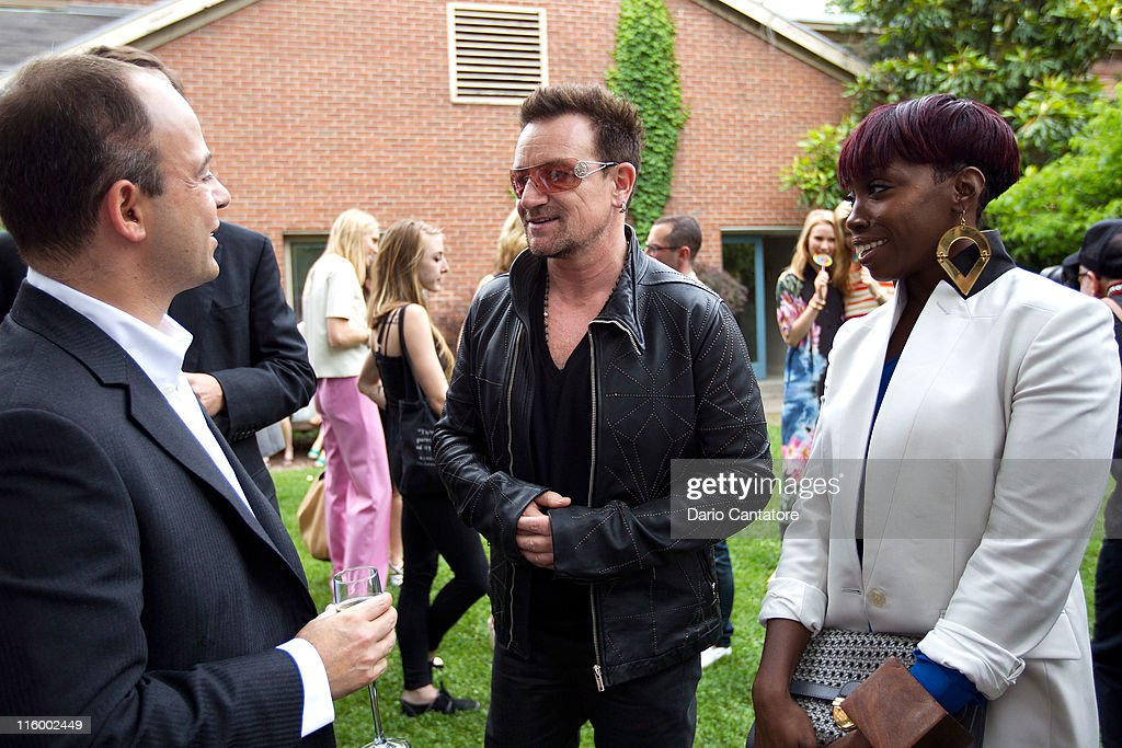 Bono and Estelle attend the Stella McCartney Spring 2012 Presentation at a Private Location on June 13, 2011 in New York City.