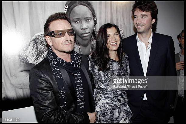 Bono and his wife Ali Hewson Antoine Arnault at Every Journey Began In Africa Party For The Exhibition Africa Rising And The Discovery Of The...