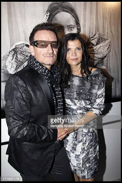 Bono and his wife Ali Hewson at Every Journey Began In Africa Party For The Exhibition Africa Rising And The Discovery Of The Collaboration Between...