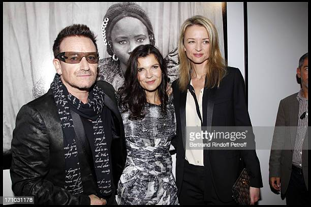 Bono and his wife Ali Hewson Delphine Arnault at Every Journey Began In Africa Party For The Exhibition Africa Rising And The Discovery Of The...