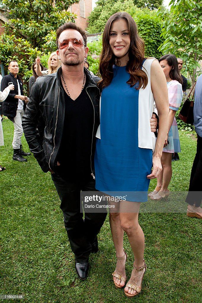 Bono and Liv Tyler attend the Stella McCartney Spring 2012 Presentation at a Private Location on June 13, 2011 in New York City.