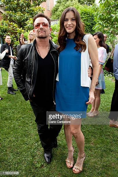 Bono and Liv Tyler attend the Stella McCartney Spring 2012 Presentation at a Private Location on June 13 2011 in New York City