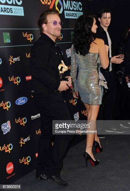 Bono and Penelope Cruz attend '40 Principales Awards' 2017 on November 10 2017 in Madrid Spain