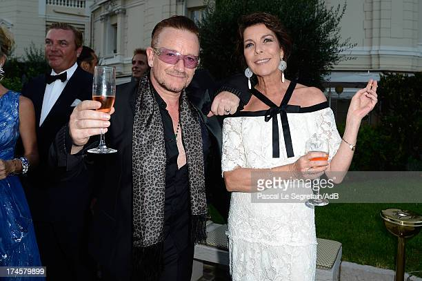 Bono and Princess Caroline of Hanover attend the cocktail at the 'Love Ball' hosted by Natalia Vodianova in support of The Naked Heart Foundation at...