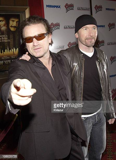Bono and The Edge during Gangs of New York World Premiere at Ziegfeld Theater in New York City New York United States
