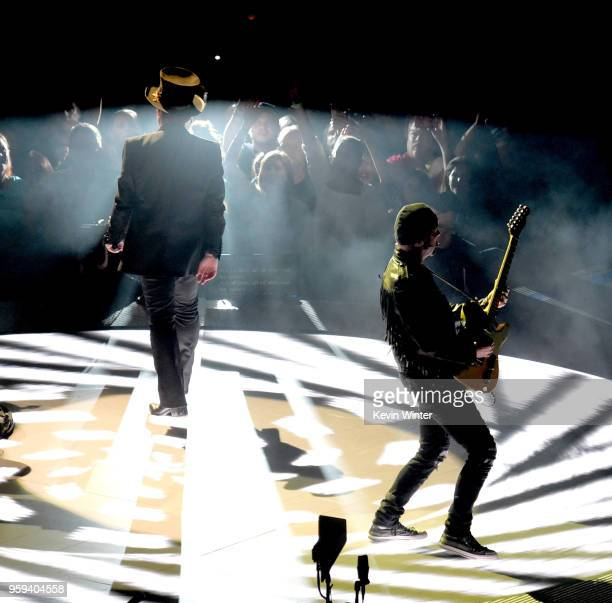 Bono and The Edge of U2 perform at The Forum on May 16 2018 in Inglewood California