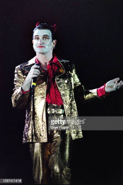 Bono appears as Mr MacPhisto as he performs with U2 during the Zoo tour in 1992