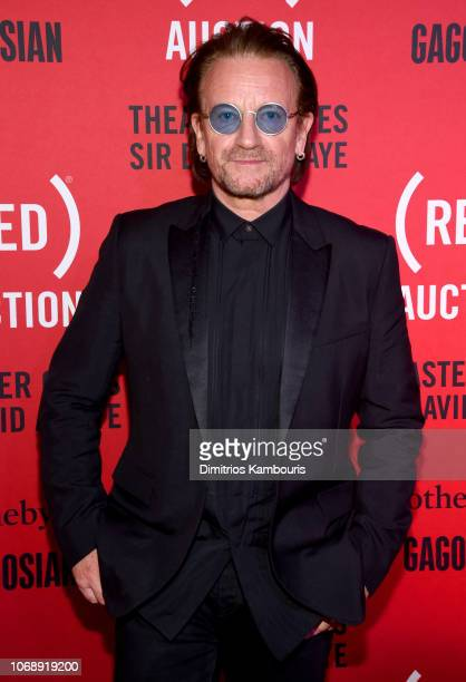Bono attends The Auction with Theaster Gates Sir David Adjaye and Bono in collaboration with Sotheby's and Gagosian at The Moore Building on December...