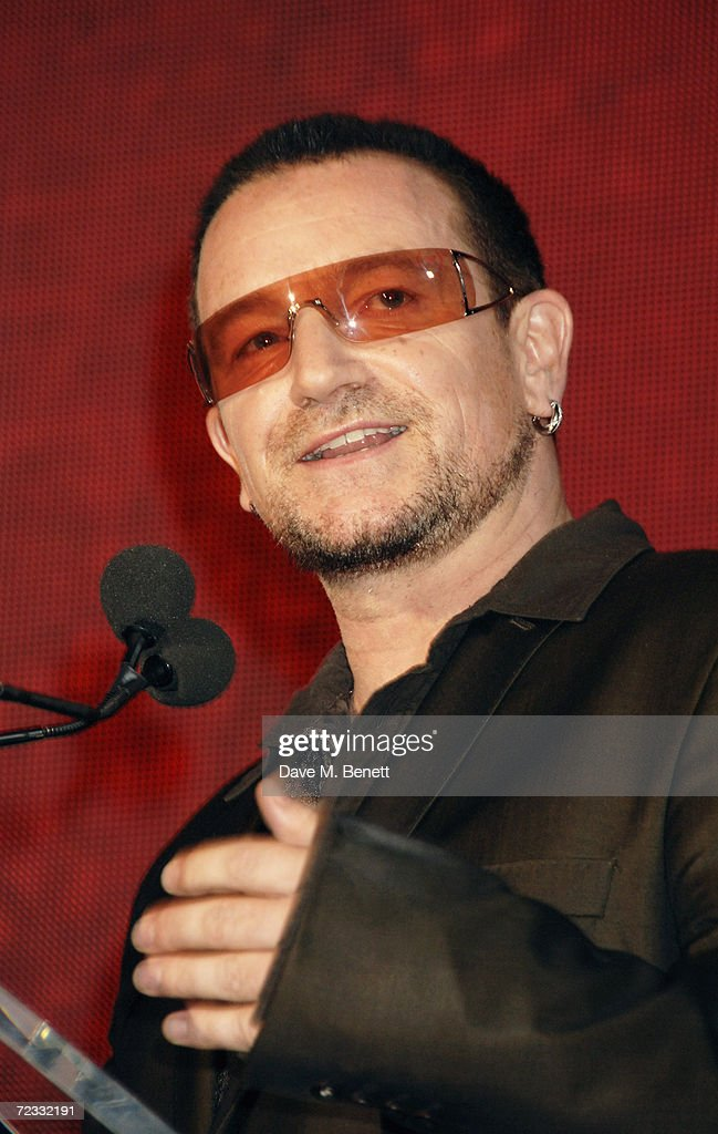 Bono attends the fashion show and party to celebrate the launch of Emporio Armani RED collection, at Earls Court on September 21, 2006 in London, England.