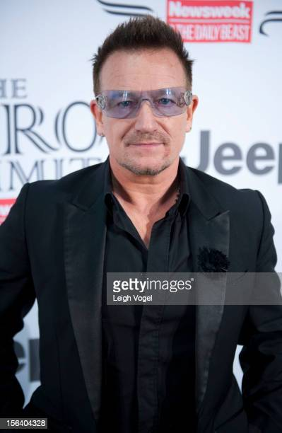 Bono attends the Newsweek The Daily Beast 2012 Hero Summit at the United States Institute of Peace on November 14 2012 in Washington DC