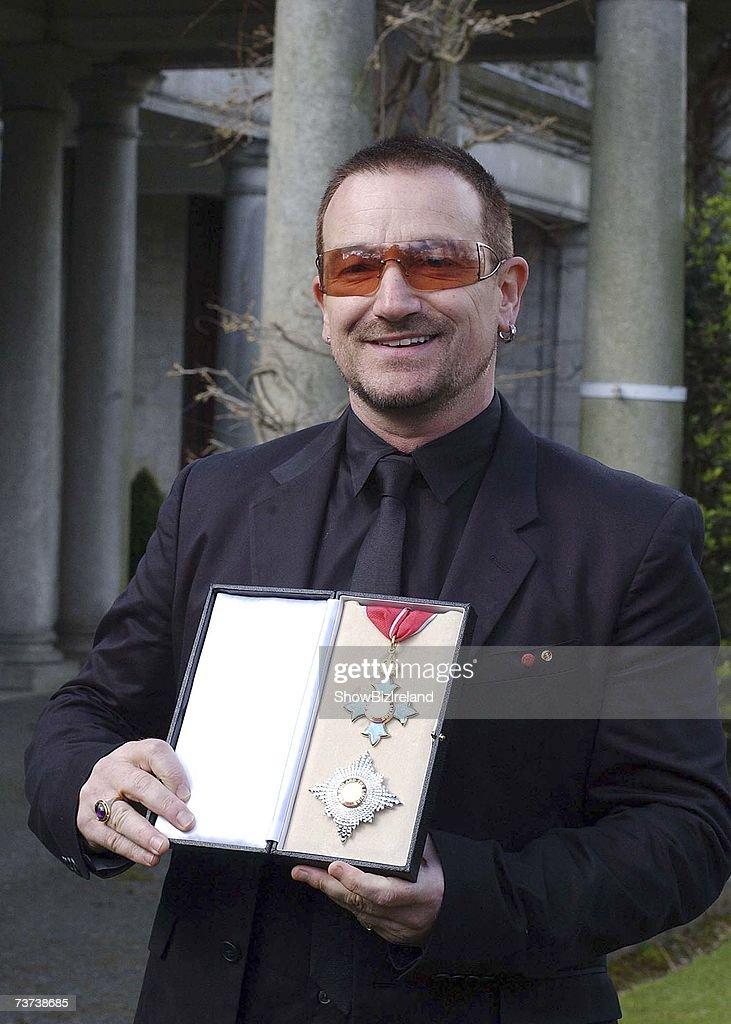 Bono Receives Knighthood In Dublin
