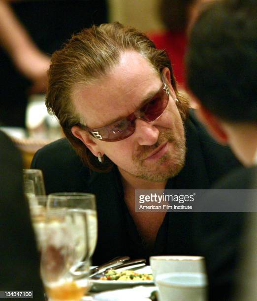 Bono during AFI Awards 2003 Luncheon Salutes Film and Television Creative Teams Inside at The Four Seasons in Beverly Hills California United States