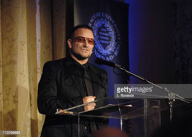 Bono during Lou Reed is Awarded George Arents Pioneer Medal Syracuse University's Highest Alumni Award at W New York Union Square in New York City...