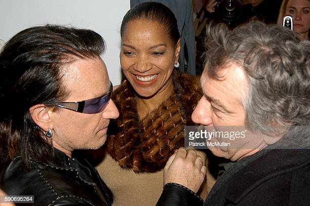 Bono Grace Hightower and Robert DeNiro attend Ali Hewson and Husband Bono Partner with Designer Rogan to Launch New 'Conscious Commerce' Clothing...
