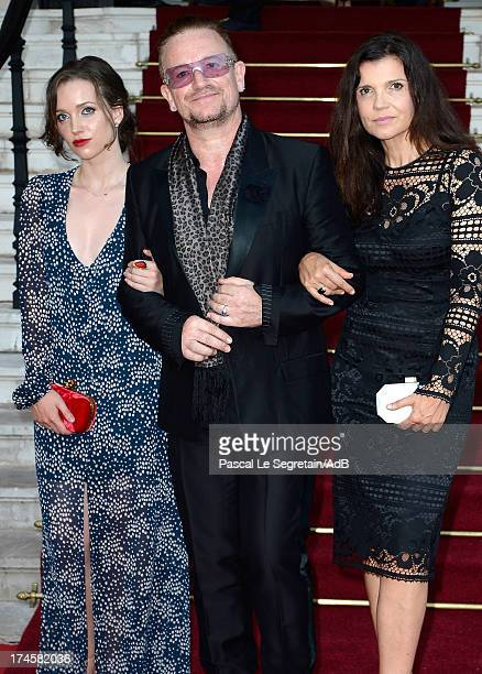 Bono his wife Ali Hewson and daughter Hewson Jordan arrive at 'Love Ball' hosted by Natalia Vodianova in support of The Naked Heart Foundation at...