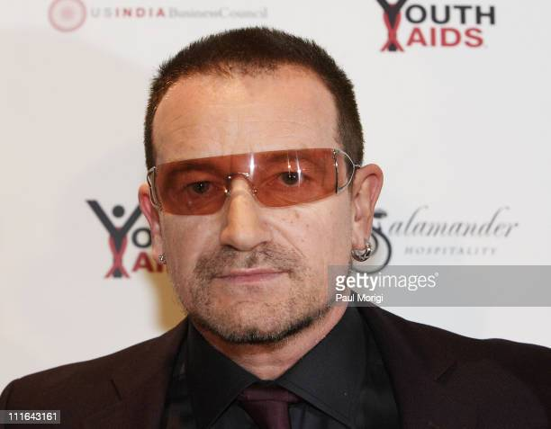 Bono Honored Guest Musician and Activist at the YouthAIDS Gala Faces of India at the RitzCarlton Tysons Corner on November 2 2007 in Mclean VA
