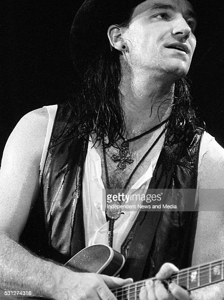 Bono in action at The Point 26/12/89 for U2's 'Lovetown Tour' of 1989 BB King the legendary blues musician joined them on stage at all but one of...