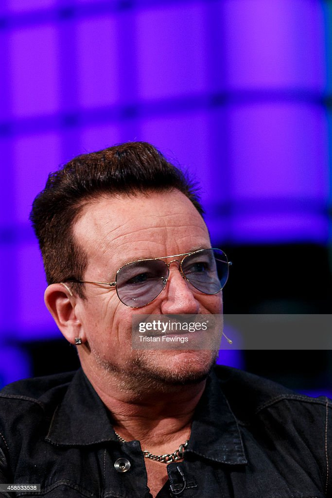 Bono joins Dana Brunetti; Eric Wahlforss and David Cart in a discussion on the Web Summit Centre Stage at the 2014 Web Summit on November 6, 2014 in Dublin, Ireland.