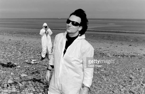 Bono of Irish band 'U2' joins protests at Sellafield on June 20th England.