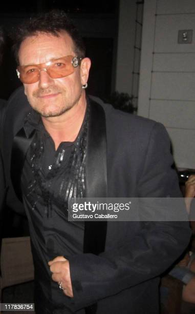 Bono of U2 attends the Special Red Carpet VIP Screening of Transformers Dark of the Moon After Party Arrivals at LIV nightclub at Fontainebleau Miami...