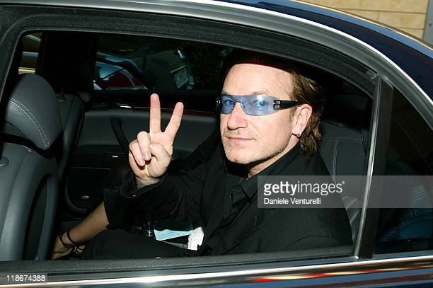 Bono of U2 during Luciano Pavarotti Marries Nicoletta Mantovani at Teatro Comunale in Modena in Modena Italy